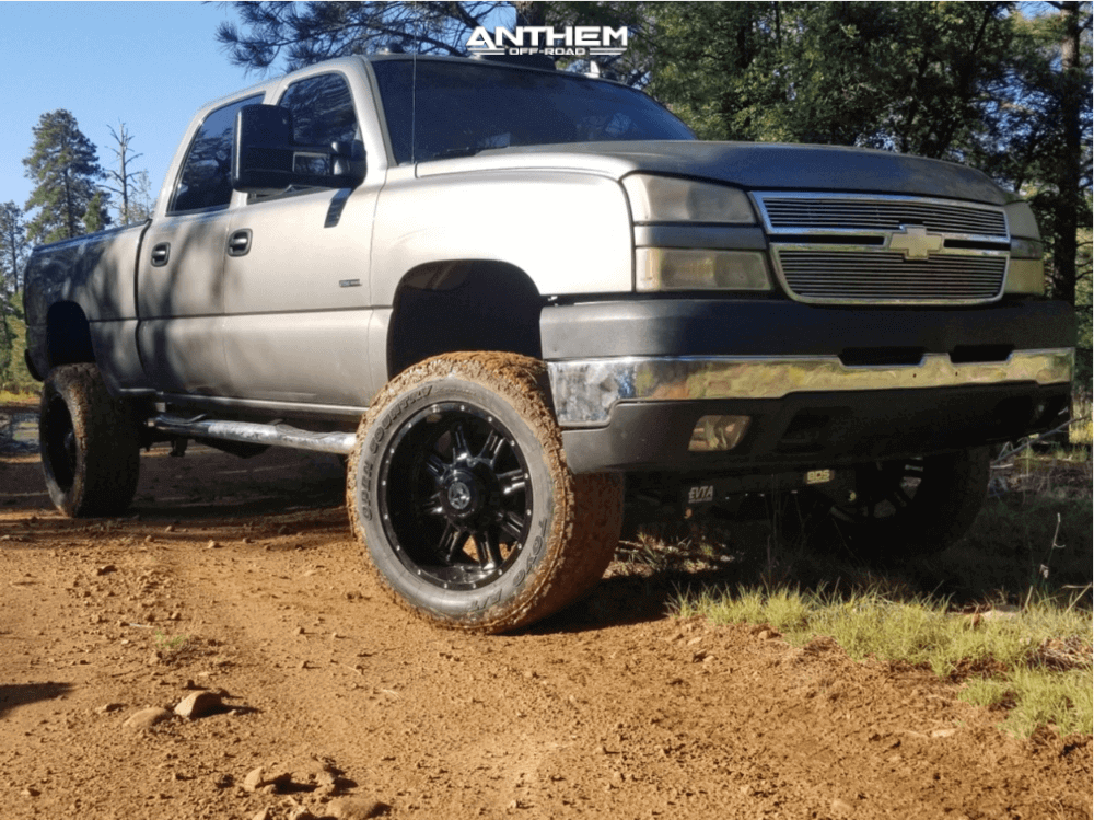 Lifted Cateye Silverado Anthem Wheels tire sidewall