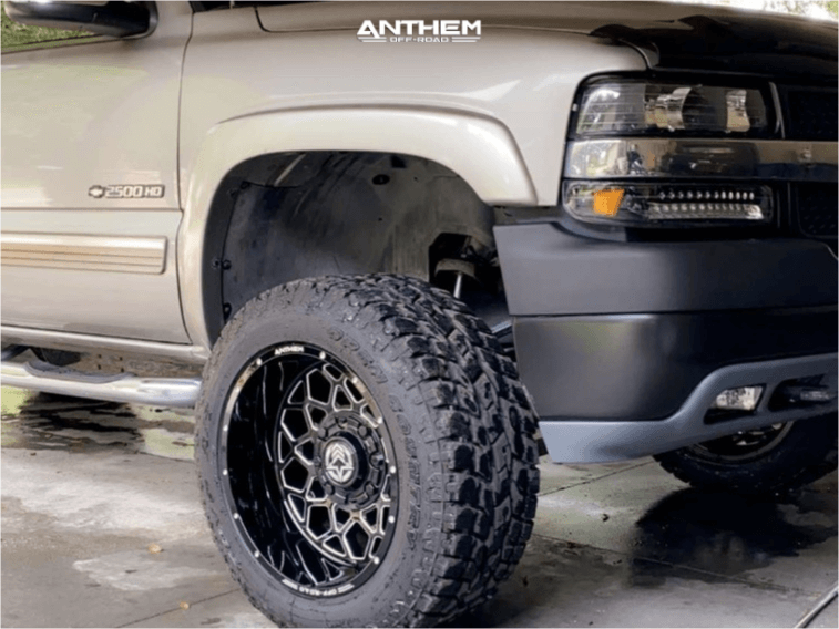 2002 Chevrolet Silverado 2500 HD Anthem Off-Road Avenger wheels Toyo Tires Open Country AT III